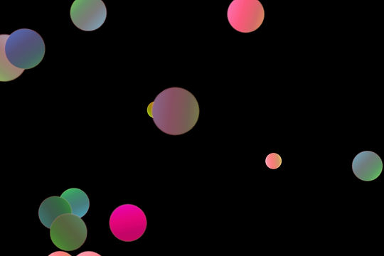 Colorful Night Light Bokeh Clip Art on black background | Photo Overlays