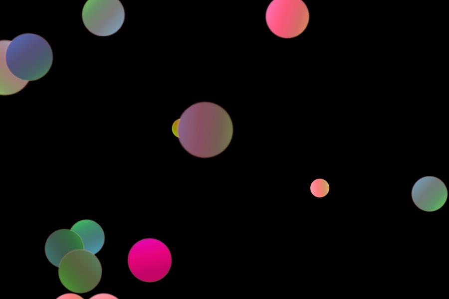 Colorful Night Light Bokeh Clip Art on black background   Photo Overlays