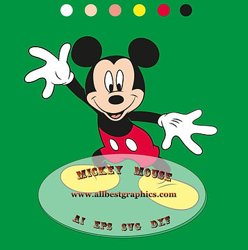 Mickey Dxf Svg Eps for Silhouette Cameo & Cricut | Mickey friends #11 vol.01