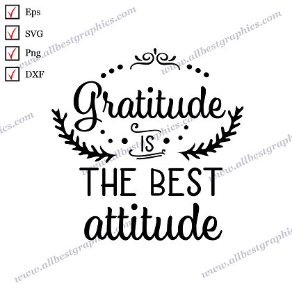 Gratitude Is the Best Attitude | Cool Quotes Christmas Design Ready-to-Use