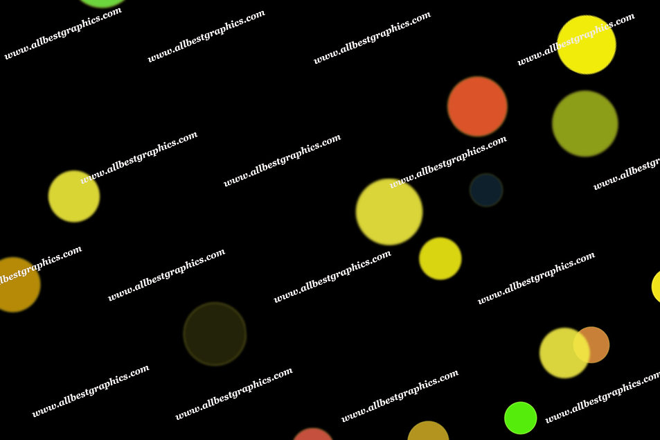 Glamour Abstract Lights Bokeh Clipart | Unbelievable Photoshop Overlays on Black