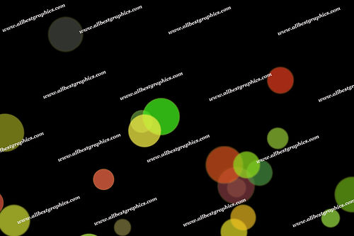 Glamour Festival Lights Bokeh Clip Art | Fantastic Photoshop Overlays on Black