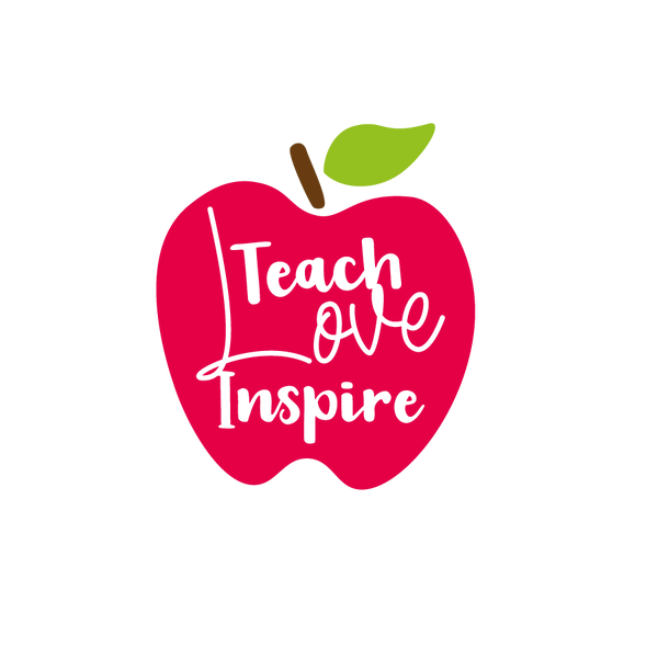 Teach Love Inspire | Free Iron on Transfer Cool Quotes T- Shirt Design in Png
