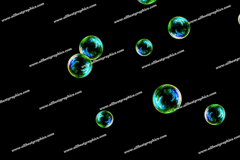 Gorgeous Realistic Bubble Overlays | Incredible Photoshop Overlays on Black