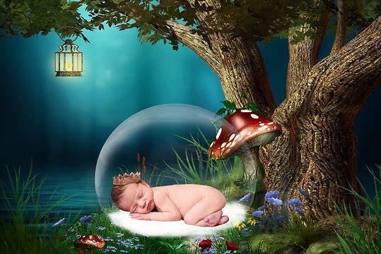 Dreamy Newborn Digital Backdrop | Newborn background