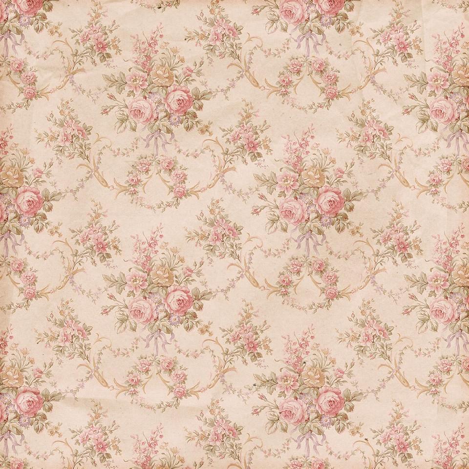 Pastel roses digital paper with seamless design | Printable Digital Papers