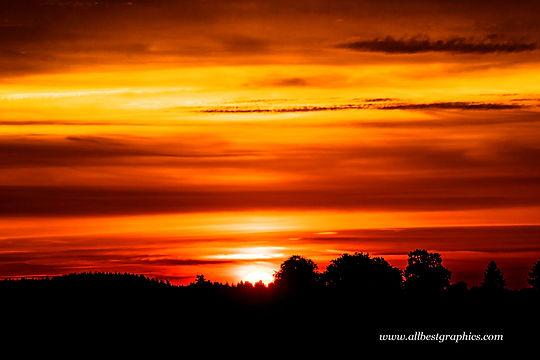 Lovely dark sunset sky | Overlays for Photoshop
