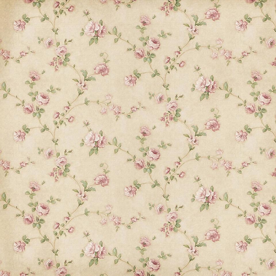 Wedding floral digital paper with peonies   Scrapbook Paper