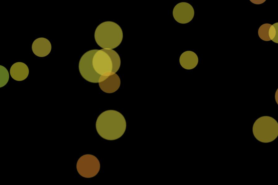 Beautiful Christmas Light Bokeh Background on black background | Free Overlays