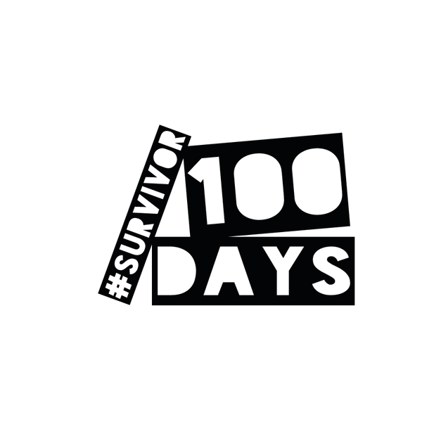 100 days survivor_3 | Free download Printable Funny Quotes T- Shirt Design in Png