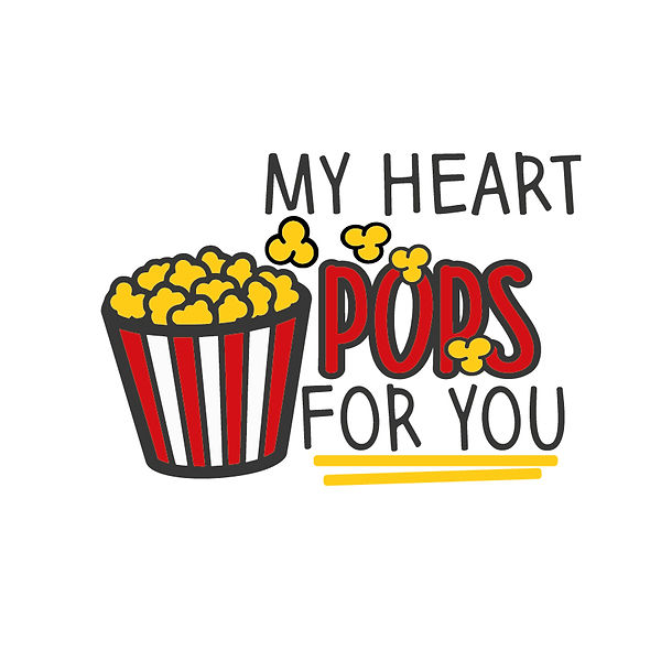 My heart pops for you Png | Free Iron on Transfer Cool Quotes T- Shirt Design in Png