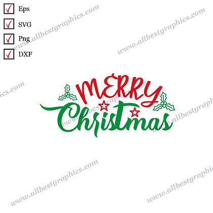 Merry Christmas | Best Cool Quotes Christmas Design Vector Clip Art Cut files