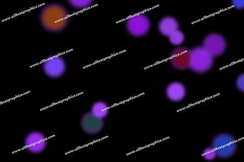 Bright Defocused Lights Bokeh Texture | Fantastic Photoshop Overlays on Black