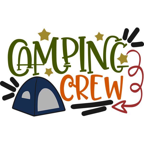 Camping crew | Great Printable Funny Quotes T- Shirt Design