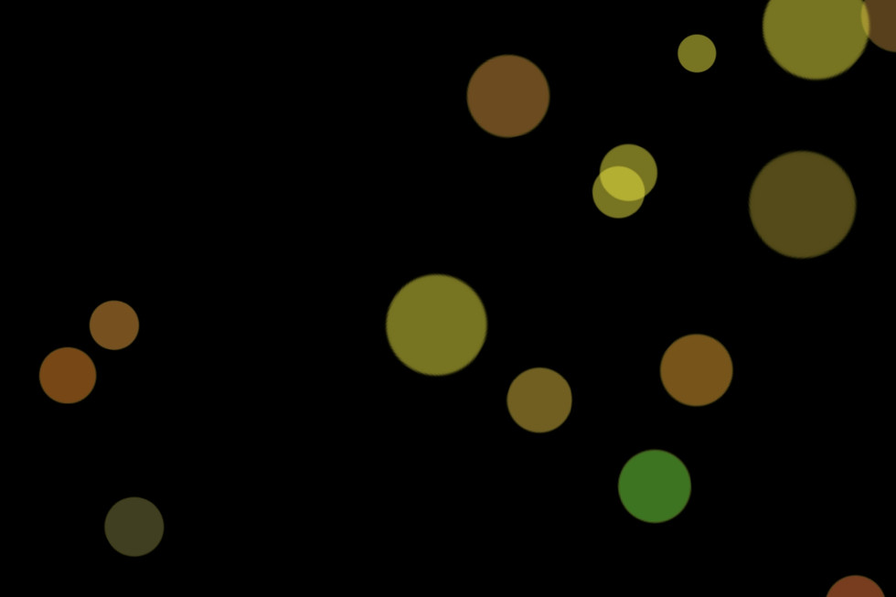 Beautiful City Light Bokeh Clip Art on black background | Free Overlays