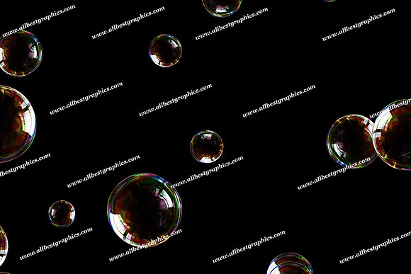 Natural Bathroom Bubble Overlays | Professional Photo Overlays on Black