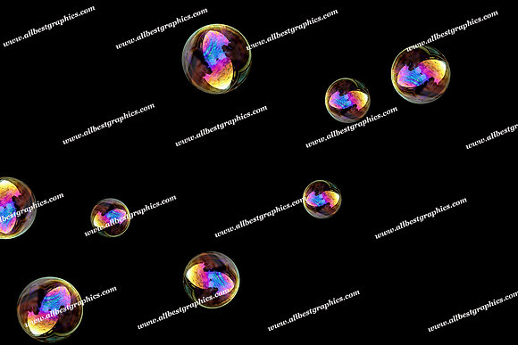Beautiful Blowing Bubble Overlays | Stunning Overlay for Photoshop on Black
