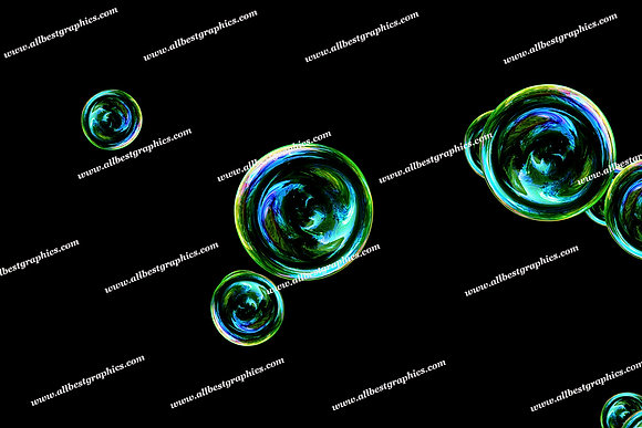 Gorgeous Colorful Bubble Overlays | Professional Overlays for Photoshop on Black