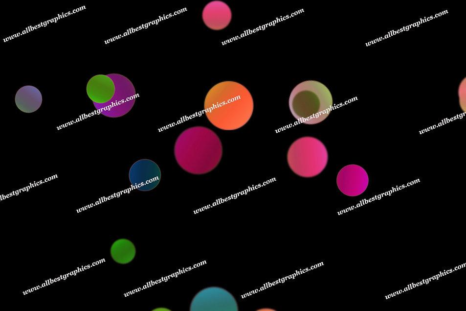 Colorful Holiday Lights Bokeh Effect   Elegant Photoshop Overlays on Black