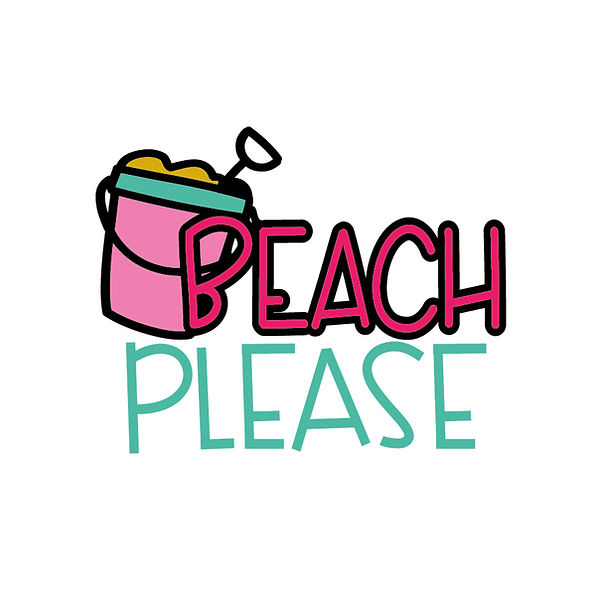 Beach please | Free download Iron on Transfer Cool Quotes T- Shirt Design in Png