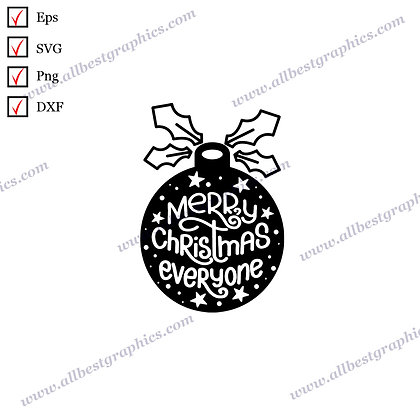 Merry Christmas Everyone | Best Funny Sayings Instant Download Christmas Décor