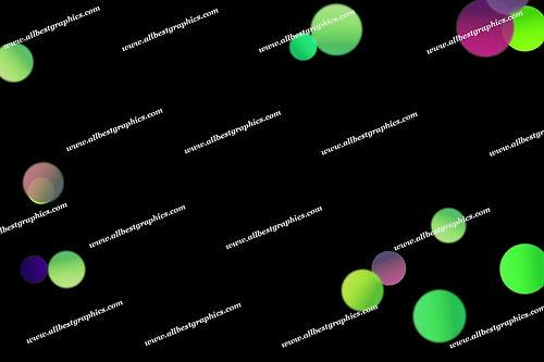 Colorful Defocused Lights Bokeh Clip Art | Incredible Photo Overlays on Black