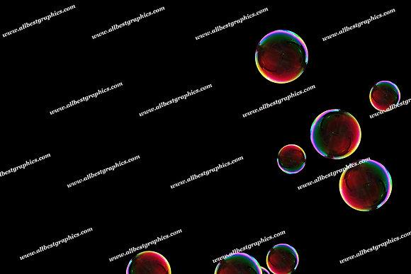 Natural Rainbow Bubble Overlays   Unbelievable Photoshop Overlay on Black
