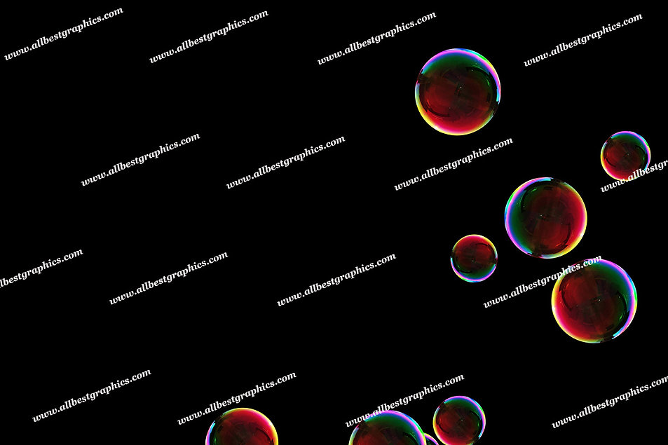 Natural Rainbow Bubble Overlays | Unbelievable Photoshop Overlay on Black