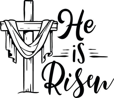 He Is Risen | Happy Easter and Bunny Quotes & SignsCut files inEps Svg Dxf