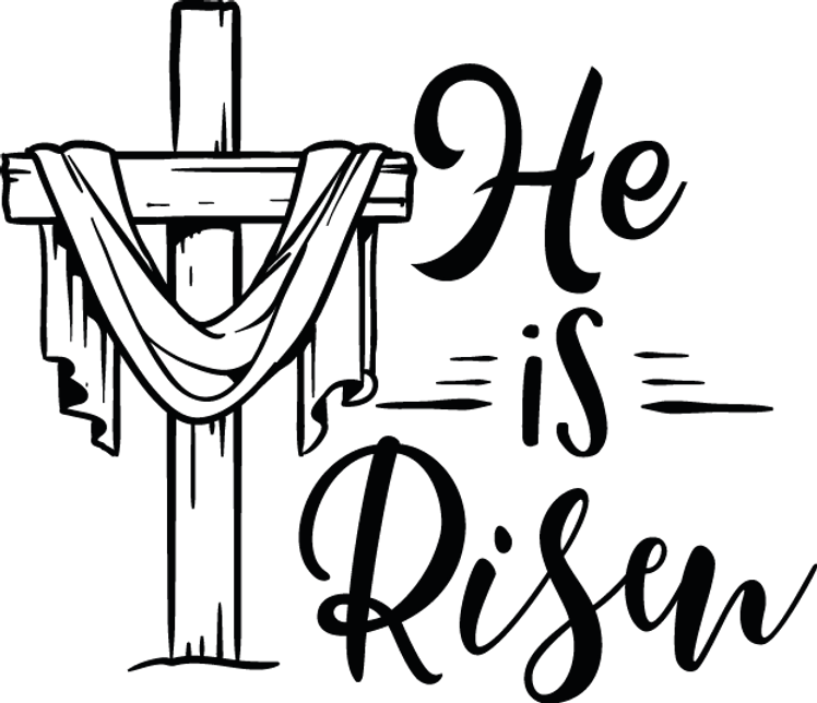 He Is Risen | Happy Easter and Bunny Quotes & Signs Cut files in Eps Svg Dxf