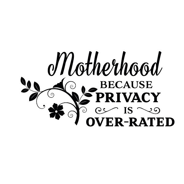 Motherhood because privacy is over rated Png   Free Iron on Transfer Slay & Silly Quotes T- Shirt Design in Png