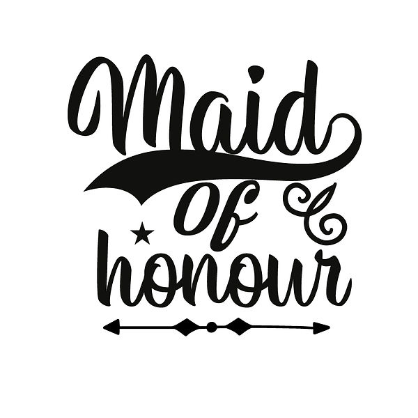 Maid of honour Png | Free download Printable Funny Quotes T- Shirt Design in Png