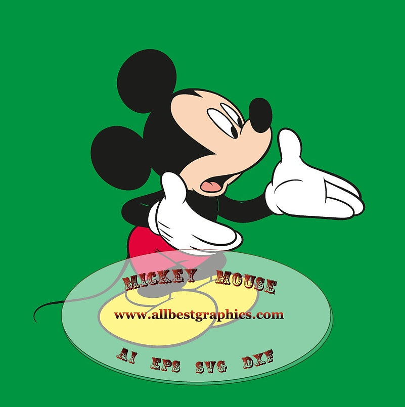 Mickey Mouse Ai Dxf Svg Png Eps clipart | Disney cartoons cut files for Cricut