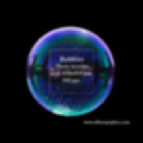 Simple Soap bubble on black background ( dark blue sky)