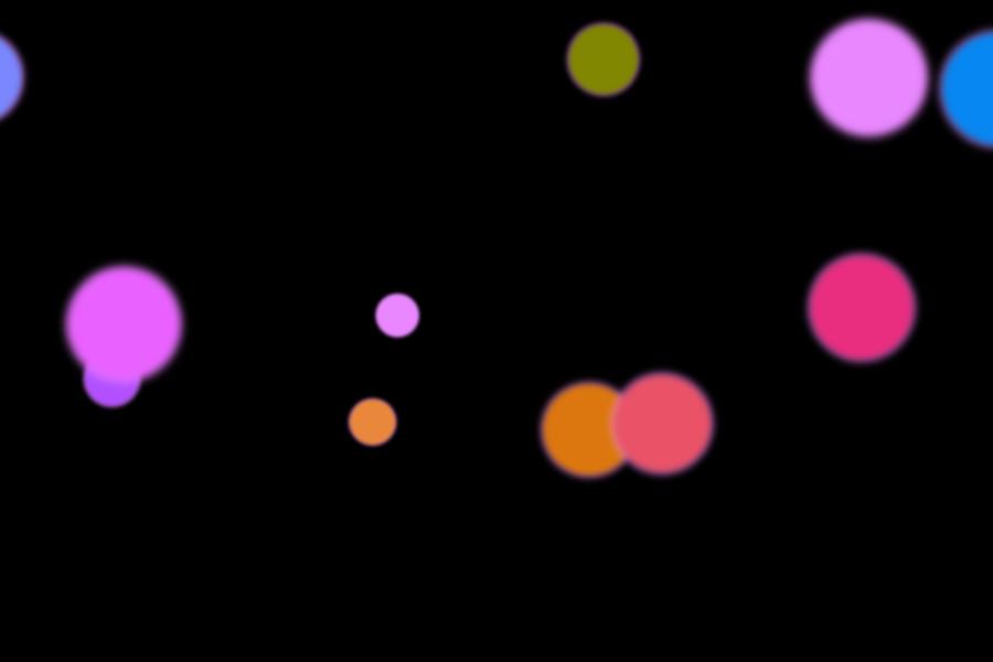 Beautiful Night Light Bokeh Clipart on black background   Freebies