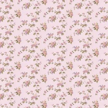 Spring floral digital paper with peonies | Invitation Digital Paper