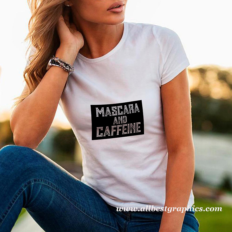 Mascara and caffeine | Sarcastic T-shirt Quotes in Eps Svg Png Dxf