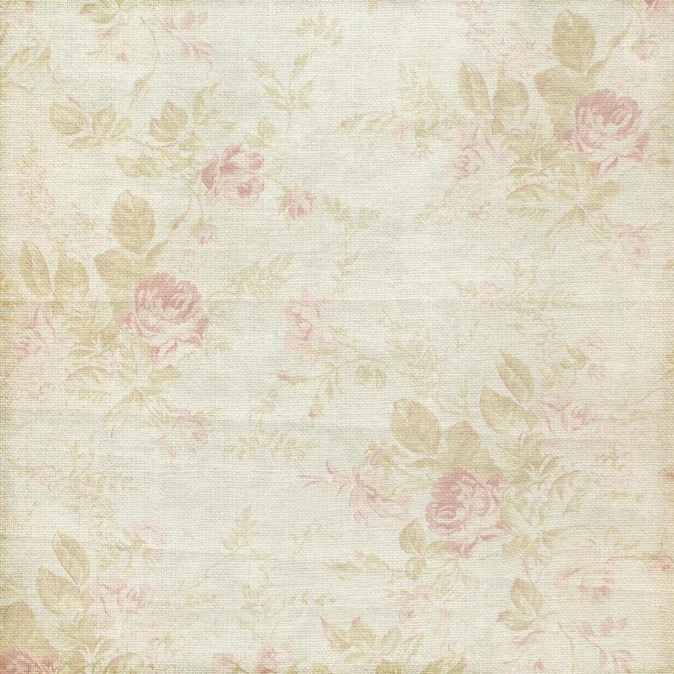 Spring floral digital paper with pink flowers | Seamlees Digital Paper
