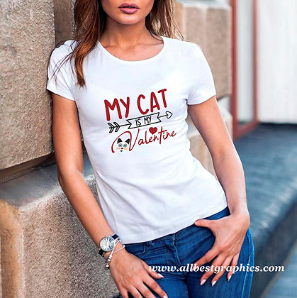 My Cat is Valentine | Cool Quotes & Signs about Pets for Cricut and Silhouette