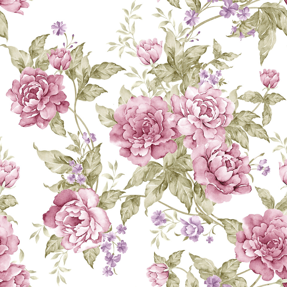 Pink roses digital paper with seamless design | Wrapping Digital Papers