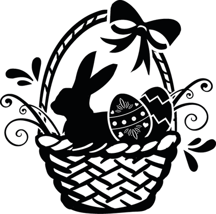 Easter Bunny And Eggs | Happy Easter and Bunny Quotes & Signs in Eps Svg Png Dxf