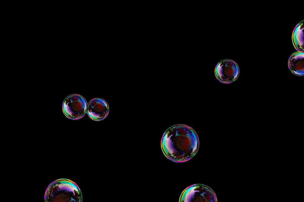 Stunning realistic soap bubbles on black background | Photoshop overlays