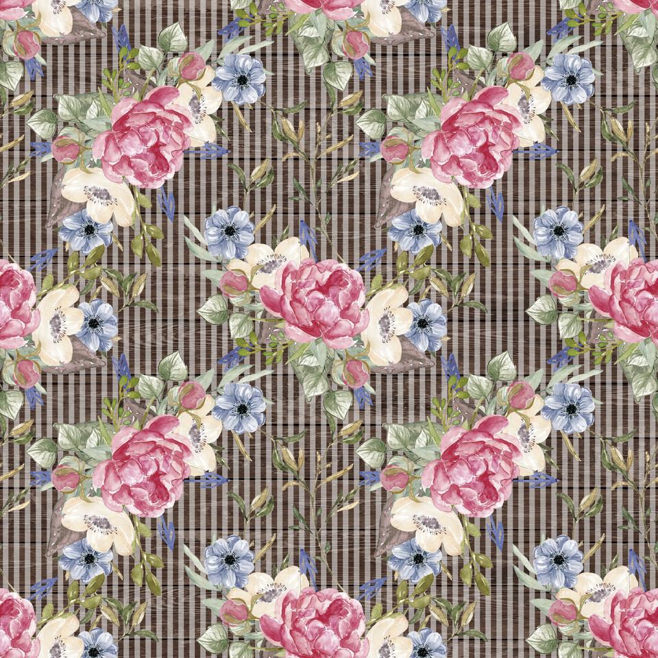 Luxury watercolor digital paper with peonies | Textured Digital Paper