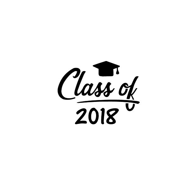 Class of 2018  | Free download Iron on Transfer Cool Quotes T- Shirt Design in Png