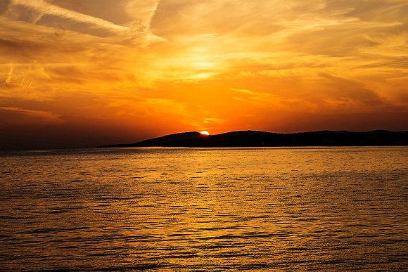 Stunning ocean sunset sky overlay for photographer - Florida sky background img_2712047