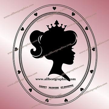 Disney Princess SVG Eps Dxf Png Clip Art | Cut files Silhouette & Cameo
