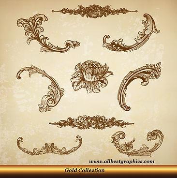 Acanthus leaves   Victorian style - Decorative elements set_90326.004