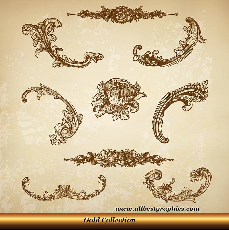 Acanthus leaves | Victorian style - Decorative elements set_90326.004