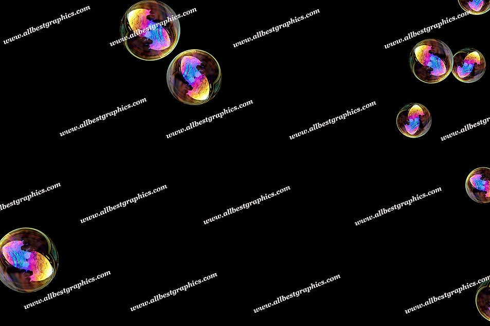 Beautiful Soap Bubble Overlays | Fantastic Photo Overlay on Black