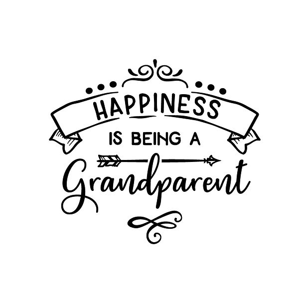 Happiness is being a grandparent Png | Free Printable Sassy Quotes T- Shirt Design in Png